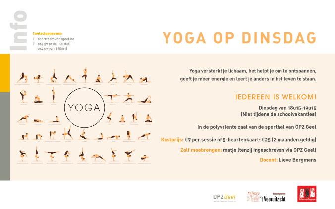 Activiteit Sportdienst Yoga