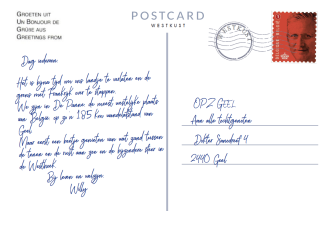 Postkaart Punt 4 achterkant