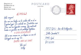 Postkaart Punt 5 achterkant