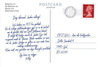 Postkaart Punt 6 achterkant