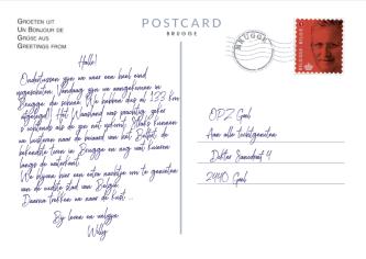 postkaartje brugge achterkant